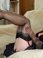 Sexy Satin Jayde erotic tease