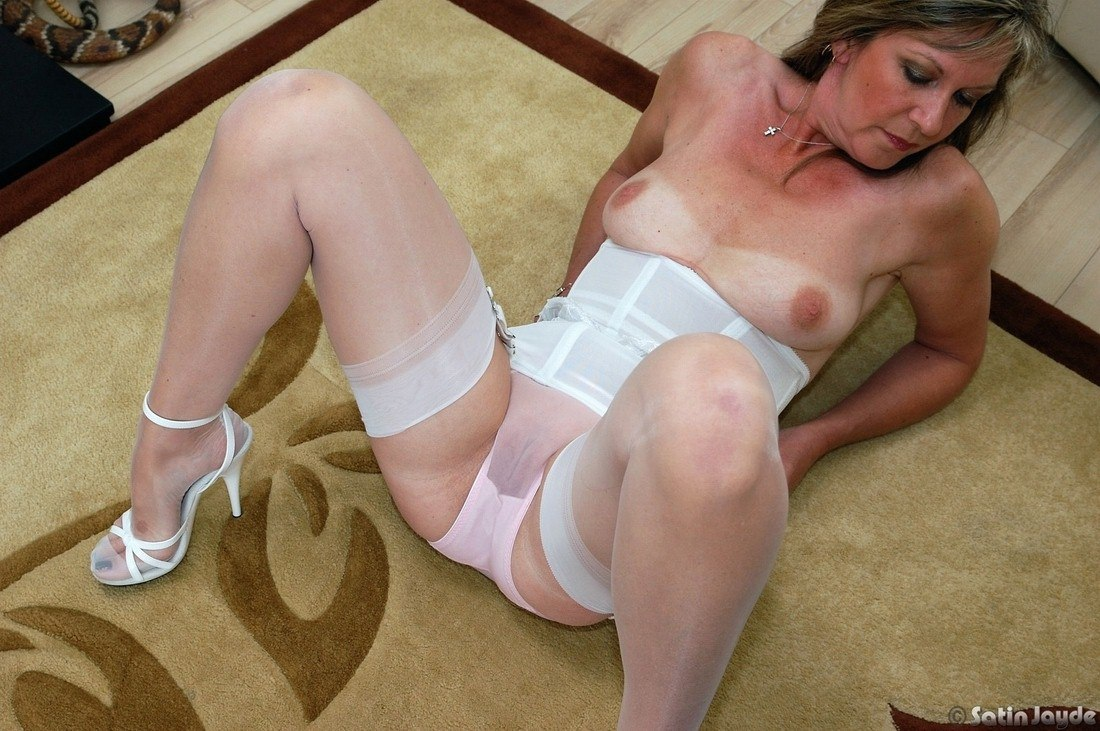 White satin panty pictures