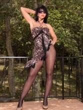 Desyra's Nylon Sex images: Desyra in black pantyhose