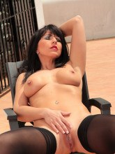 Desyra's Nylon Sex images: Desyra in black pantyhose