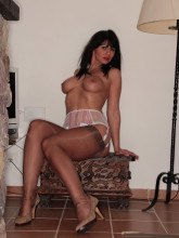 Desyra Noir in stockings and lingerie
