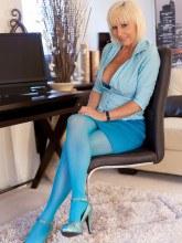 Jans Nylon Sex gallery - Jan Burton in Blue Stockings