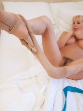 Jan Burton pictures gallery - Black crotchless pantyhose