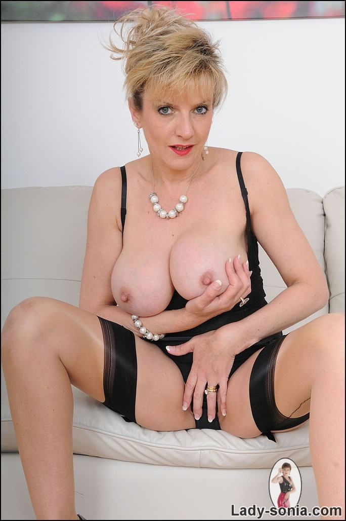 Gill Ellis Young posing in lingerie and tan nylons. Pictures provided