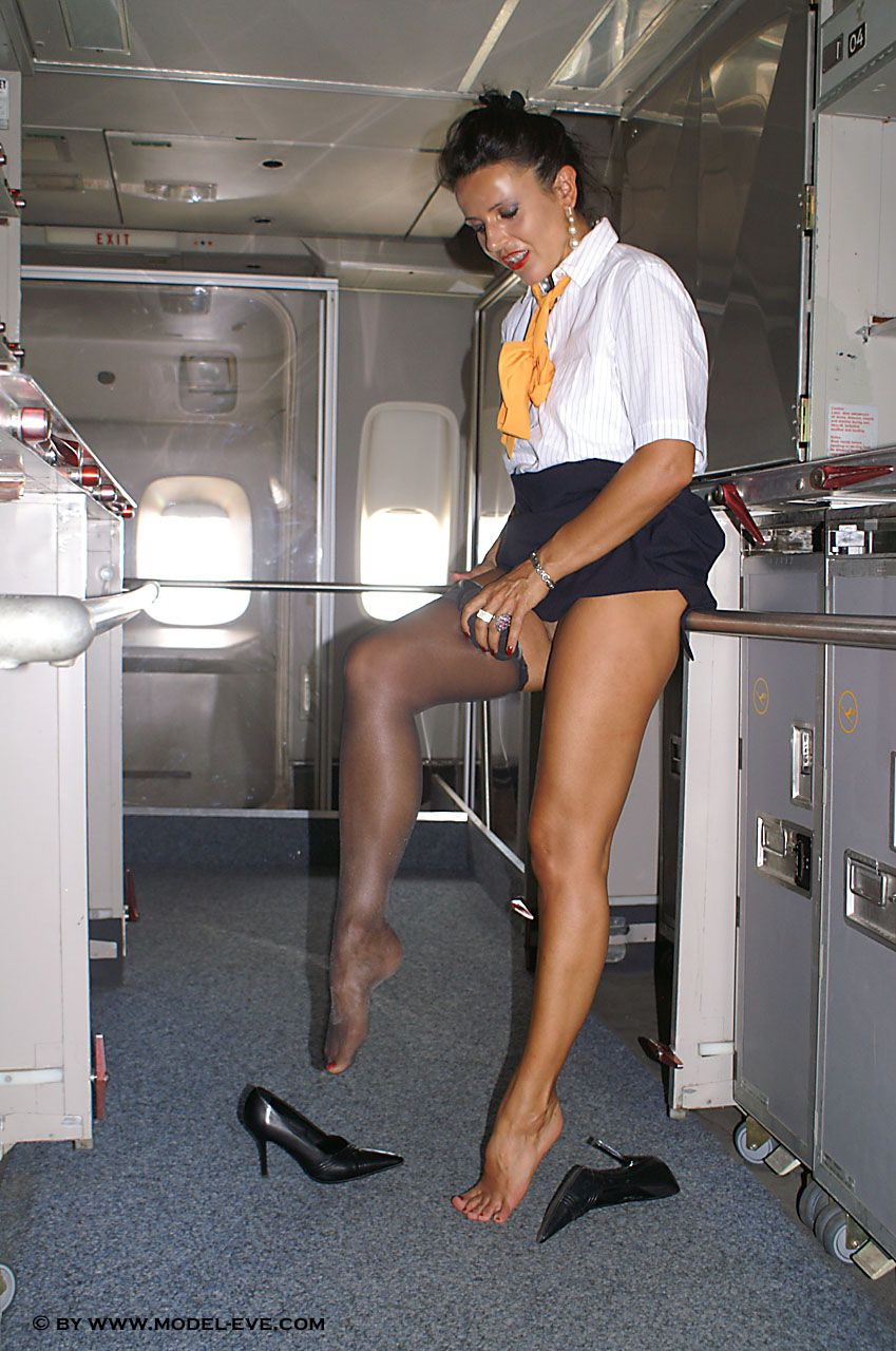 air hostess in pantyhose