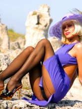 Lily WOW free gallery - Seamed pantyhose