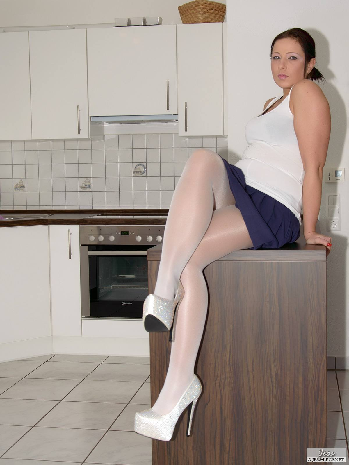 Pantyhose legs and skirts