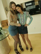 Minnie and Mary pictures - Teasing the horny photographer