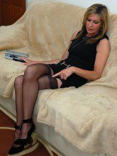 Hot wife in nylons - Satin Jayde