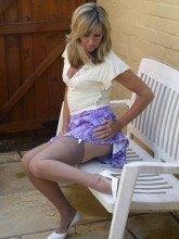 Hot wife in nylons - Satin Jayde