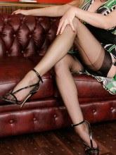 Alina in black fully fashioned nylons - Alina Heels gallery