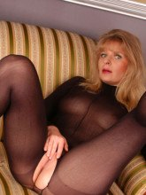 Black bodystocking and six inches heels - Angel Lovette pictures