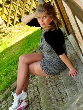 Sneakers and pantyhose - Pantyhose Angel Lovette pictures