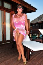 Shiny stockings tease Amanda Nylons pictures gallery