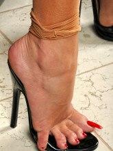 Amanda Nylons photos German amateur shiny pantyhose tease