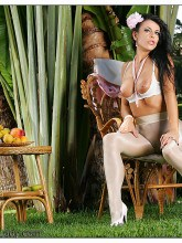 White glossy pantyhose - Pantyhose Lady Eve erotic pictures