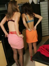 Minnie and Mary gallery Panty & Stockings lesbian strip tease